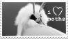 I Love Moths Stamp by egraut
