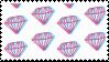trippy diamonds stamp