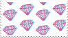 trippy diamonds stamp by egraut