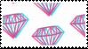 trippy diamonds 2 stamp by egraut