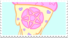 pastel goth pizza stamp by egraut