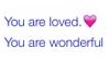 you are loved   stamp by egraut