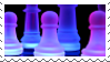 chess pieces stamp