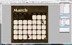 March 2012 - Lackadaisy Calendar Page by hpopcat
