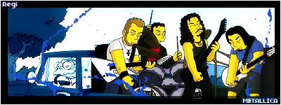 Metallica as the Simpsons by silencedridicule