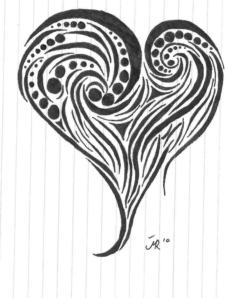 Drawings Of Tribal Hearts Tribal Heart by