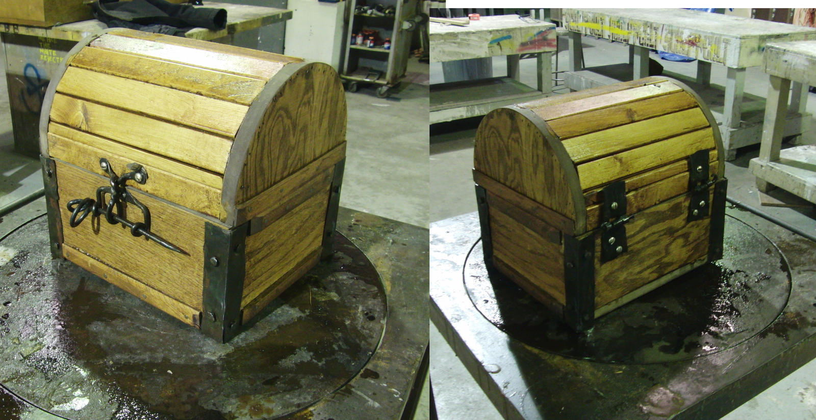 wooden treasure chest by evilgourmet wooden treasure chest by evilgourmet