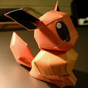 Paper eevee by Fangthewhitewolf4