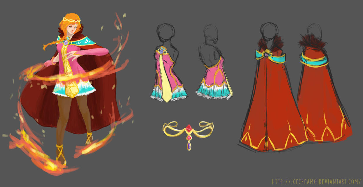 Game Character Design Contest 2015 : Character design princess project contest by icecream