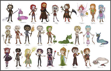 All OC's Line-up by Link-of-the-twilight