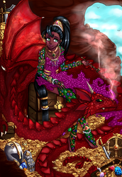 Princess Rargakhan, raised by dragons by Frills-Of-Justice