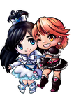 Cure Black and Cure White Chibis