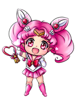Chibi moon by Frills-Of-Justice