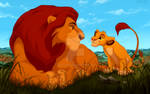 Mufasa and Simba by Bessona