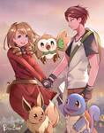 [Commission] Couple Fan of Pokemon