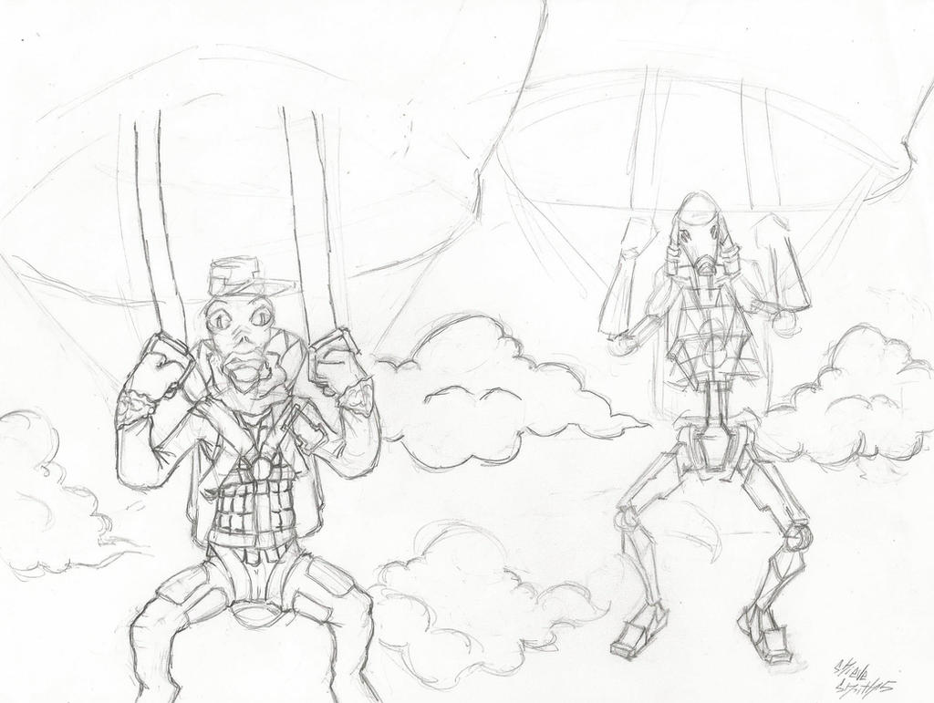 2 ps in the sky ( work in progress) by yagami246