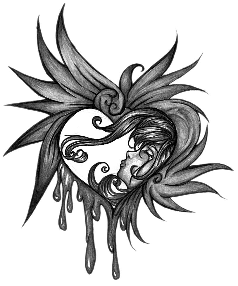 Beautiful disaster by okamikodomo on deviantart for Beautiful disaster tattoo designs