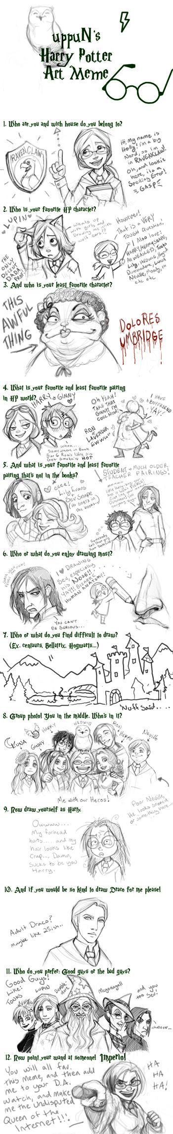 uppuN's HP Art meme by Luthie13