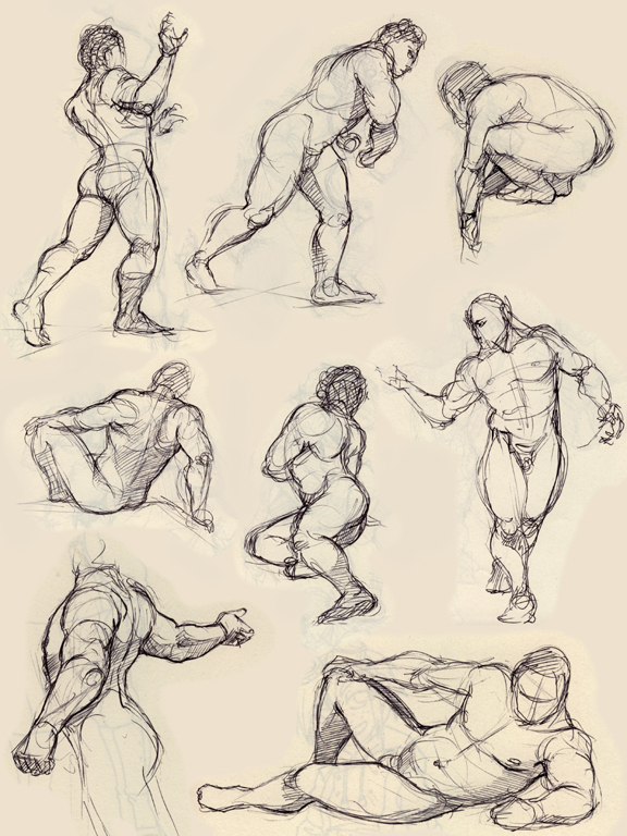 some figure drawing by Luthie13
