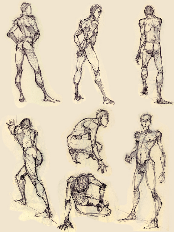 some more figure drawing by Luthie13