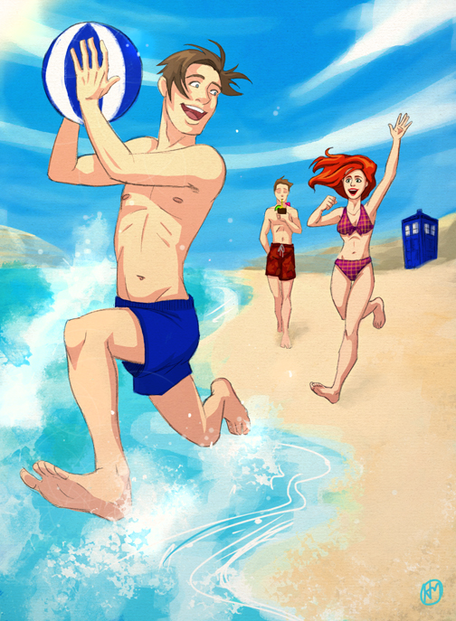 Day at the Beach with the Ponds by Luthie13