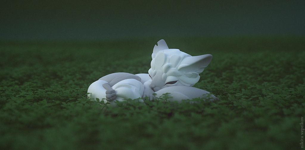 White fox by veprikov