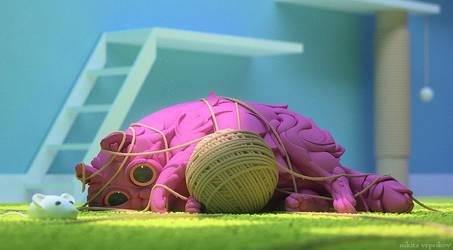 Yarn ball by veprikov