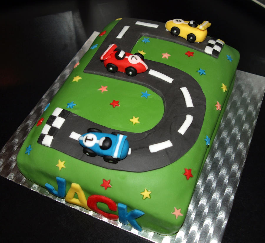 Racing Car Cake by sparks1992 on DeviantArt