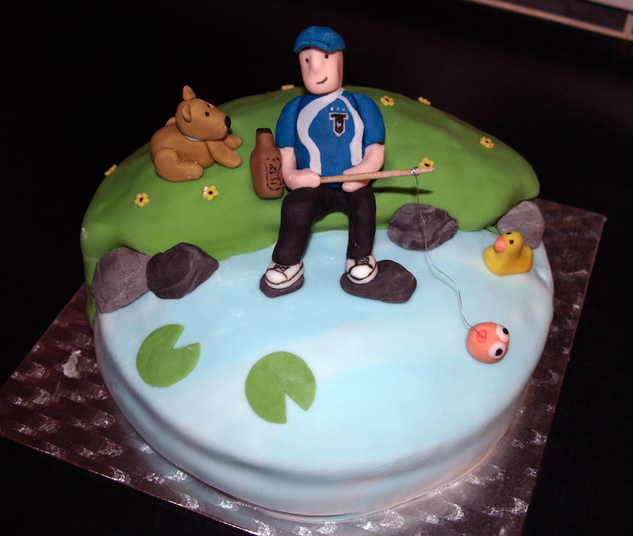 Fishing Birthday Cake by sparks1992 on DeviantArt