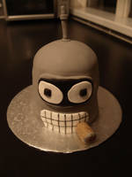 Futurama Cake - Bender by sparks1992