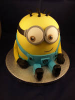 Despicable Me: Minion Cake by sparks1992