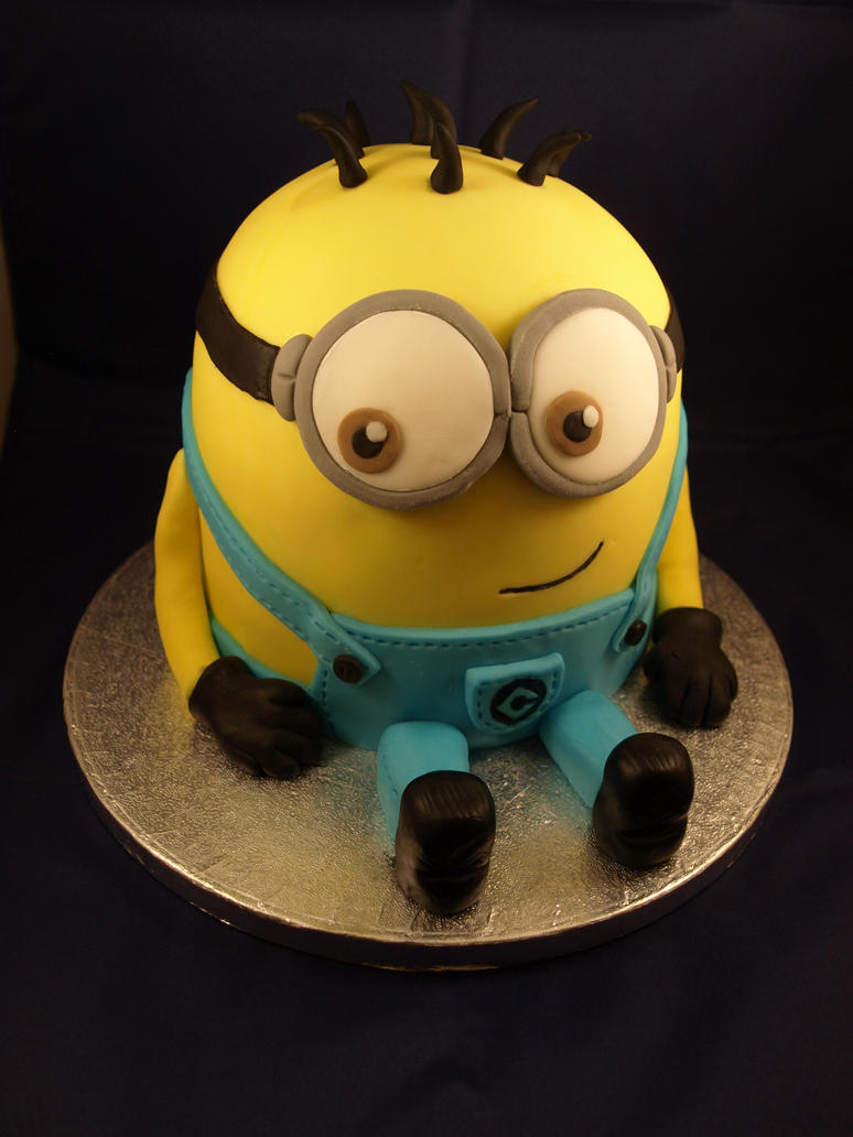 Despicable Me Minion Cake By Sparks1992 On Deviantart