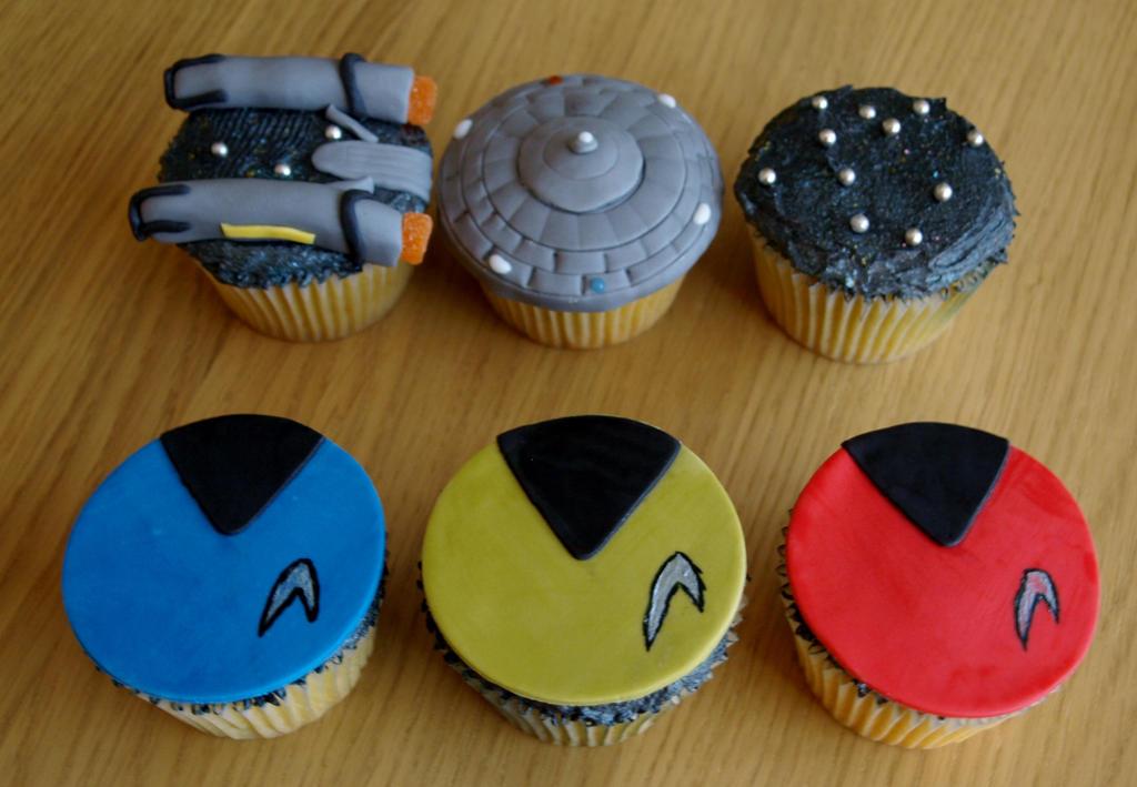 Star Trek Cupcakes By Sparks1992 On Deviantart