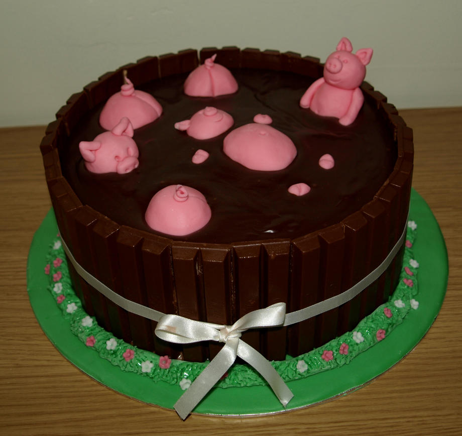 How To Make A Kit Kat Cake With Pigs