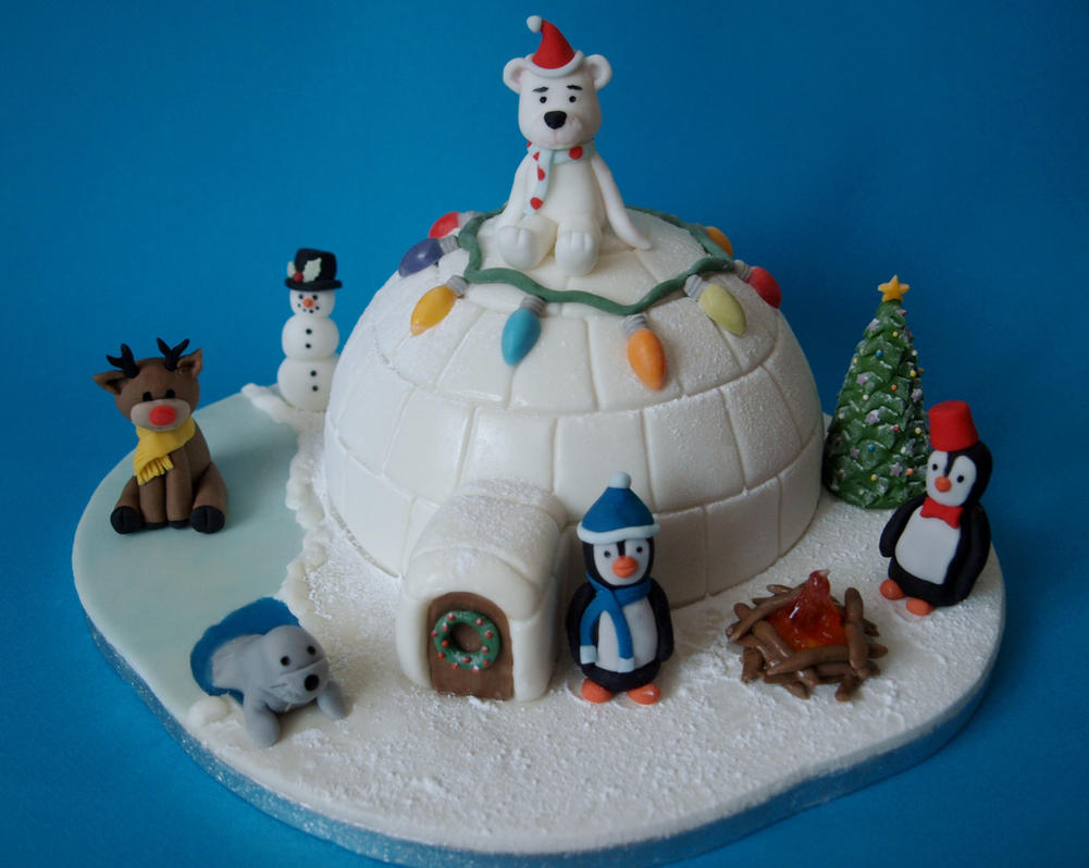 Christmas Igloo Cake by sparks1992