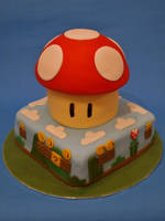 Super Mario Cake by sparks1992
