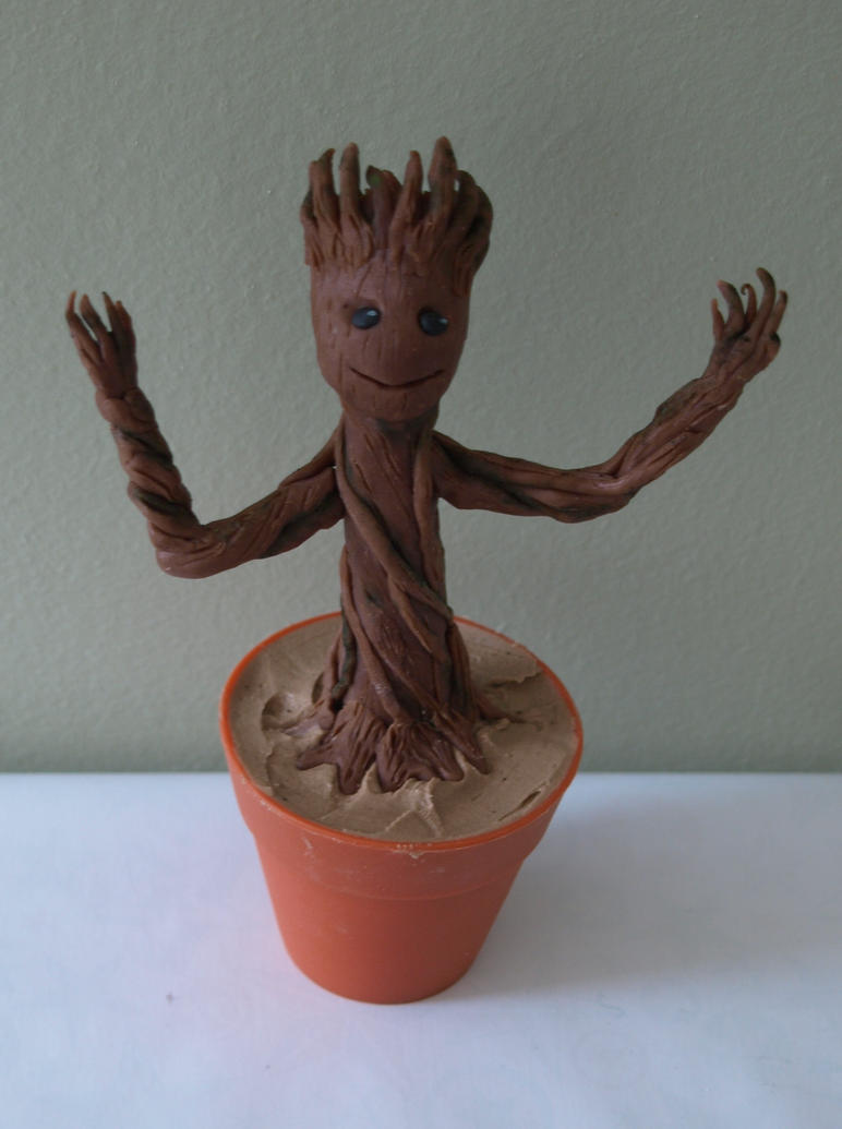 Baby Groot Cupcake by sparks1992