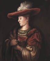 Saskia in Pompous Dress Rembrandt Copy by Foggylights