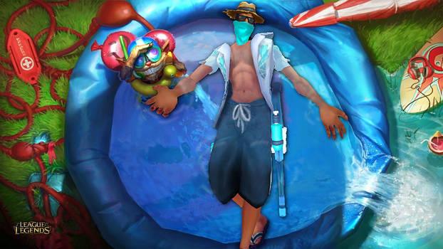 Pool Party Jhin [League of Legends Custom Skin]