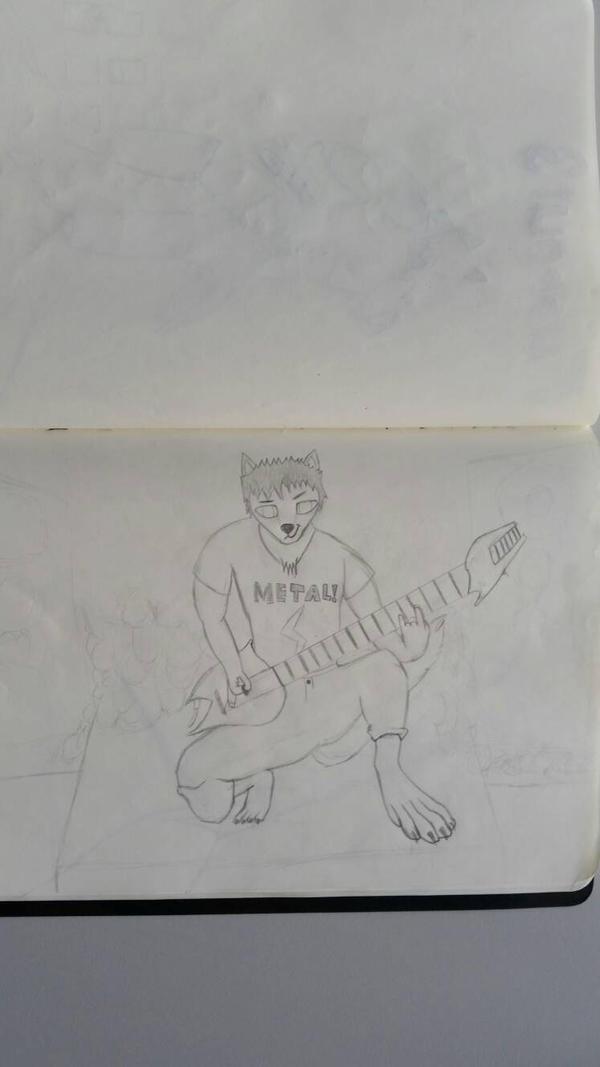 A good friend has drawn me. \m/ by CydonFreeman