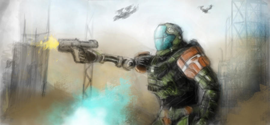 My Halo Character by GhilliedNinja