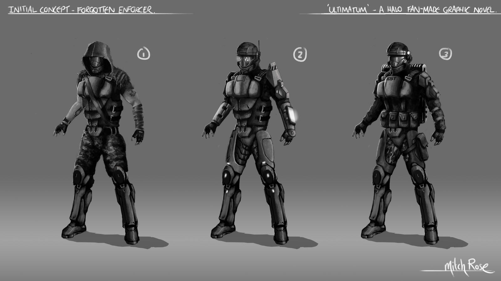 Concept - Forgotten Enforcer by GhilliedNinja