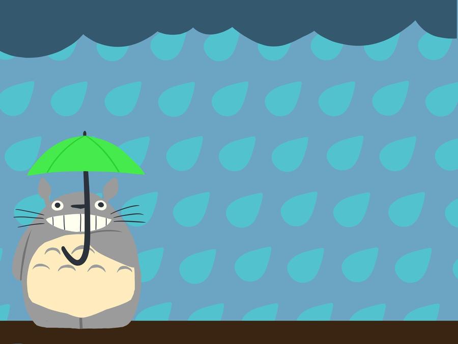 Rainy Day Totoro Wallpaper by hoshixnoxninja on DeviantArt