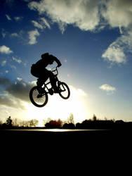 BMX air Silhouette