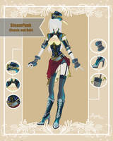 CLOSED Adoptable Outfit Auction: Steampunk Classic by Hassly