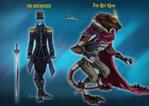 Commission: The Nutcracker and The Rat King Design
