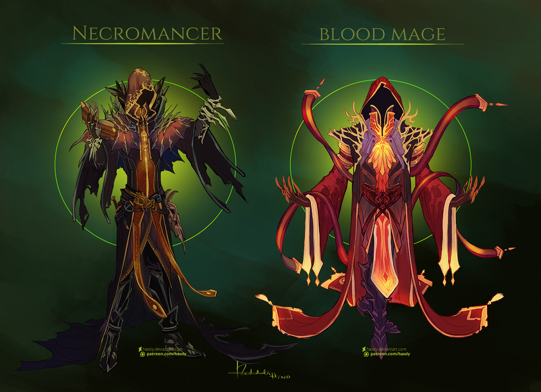 Commission: Necromancer Design by Hassly