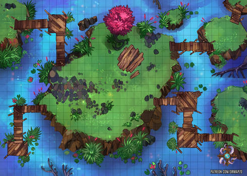 Foresty Islands Battle Map