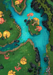 Forest And River Battle Map