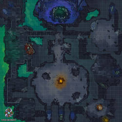 Ancient Dungeon DnD Battle Map by Hassly